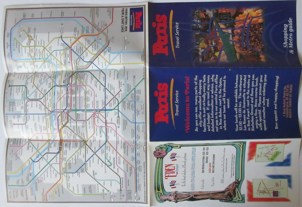 On the reverse of the A3 sheet was the full metro map (A4 size).