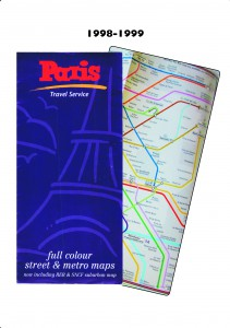 This season I was invited to completely redesign the whole map top to toe inside and out. The street map inside was completely revamped adding new styles, typeface and colour scheme with places of interest highlighted. A number of photos were also added as well as the RER regional rail map. In addition, the folding was completely changed to be a much more user-friendly gate fold