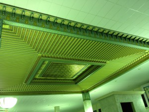 Tunis-airport-departure-area-ceiling-decoration-close-up