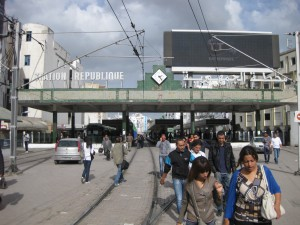 Tunis-station-La Republique-end-view
