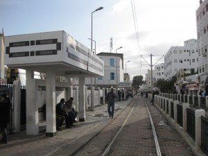 Tunis-typical-tram-station
