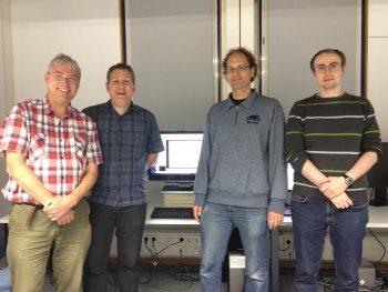 Left to right: Robin Woods, Michael Burch, Daniel Weiskopf and Rudolf Netzel