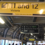Which platform would you head for if you wanted Victoria?